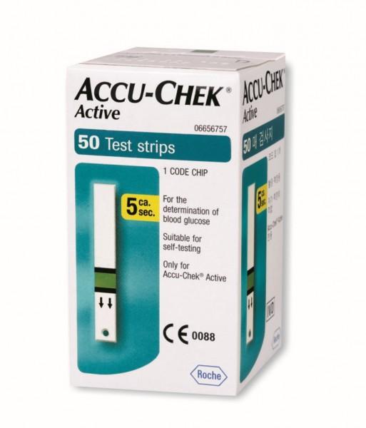 Que thử đường huyết Accu-Chek Active (50 que) - Roche