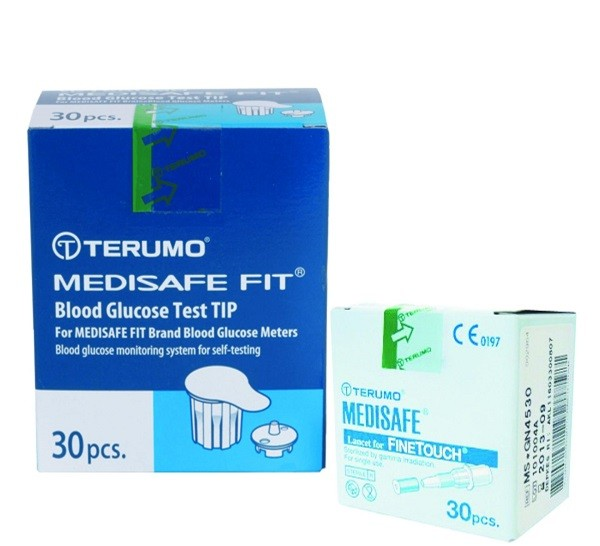 Test thử, que thử đường huyết Terumo Medisafe Fit (30 test)