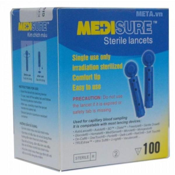 Kim lấy máu, chích máu tiệt trùng MediSure (100 kim)