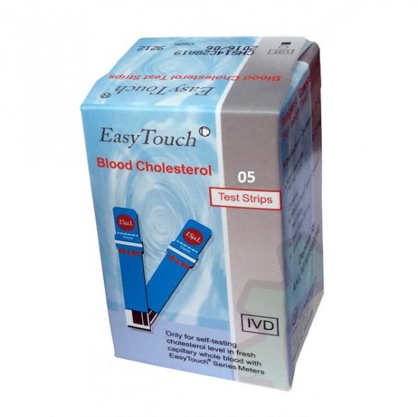 Que thử mỡ máu, cholesterol cho máy đo Easy Touch GCU ET322 (2x5 que) - Đài Loan