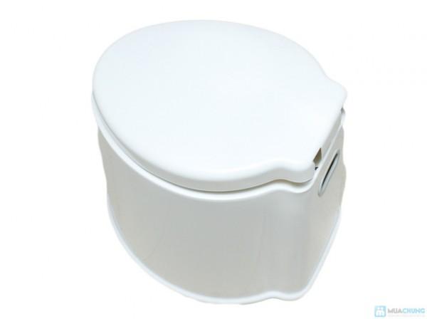 Bô nhựa vệ sinh, bệ toilet di động bằng nhựa trắng cao cấp