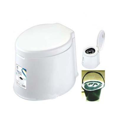 Ghế bô, bệ toilet vệ sinh di động bằng nhựa trắng